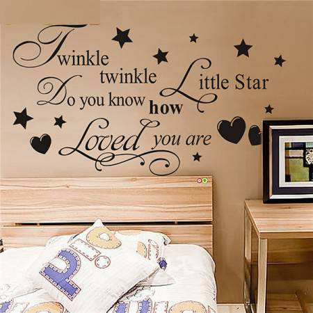Twinkle Twinkle Little Star Saying Quotes Wall Stickers Part 78