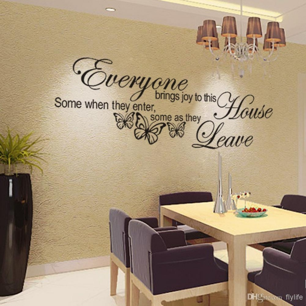 EVERYONE BRINGS JOY TO THIS OFFICE Quote decal sticker vinyl wall art decoration