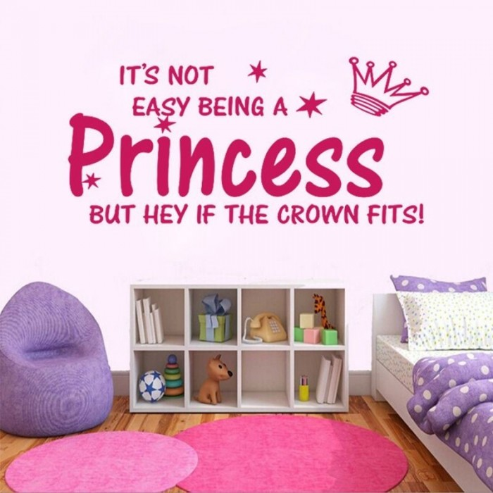Its Not Easy Being Princes Wall Decals