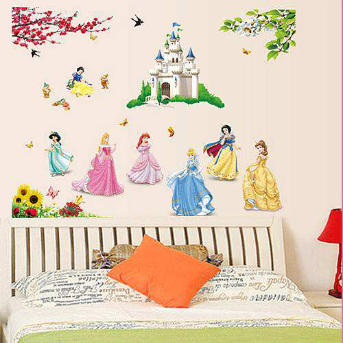 Disney fairy princess peel and stick wall decals made from vinyl