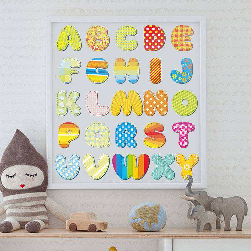 ... Alphabet Letters Wall Stickers. ;  Part 33