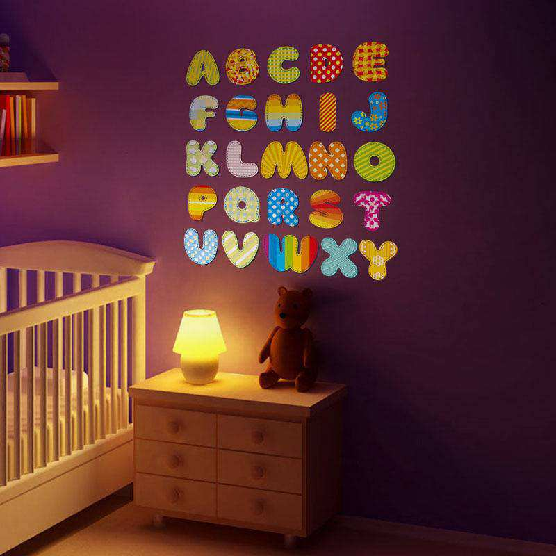 ... Alphabet Letters Wall Stickers. ;  Part 58