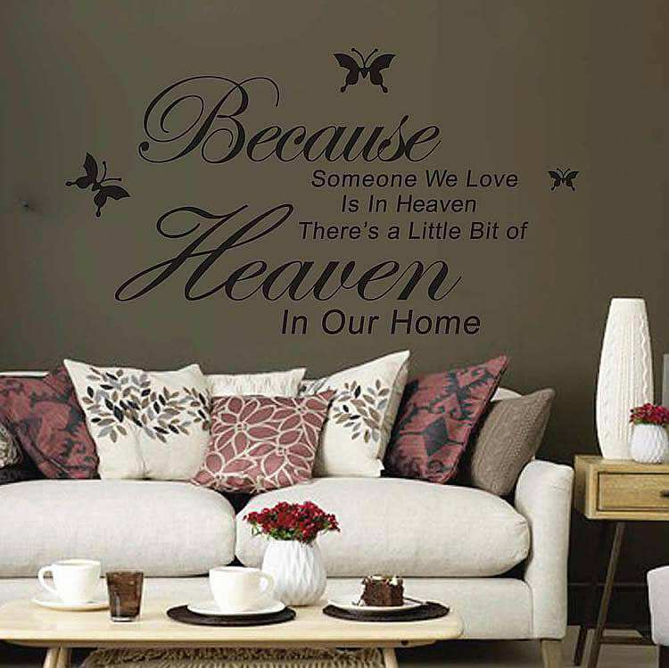 Because Someone We Love Is In Heaven Wall Quotes Sticker | Wall Decals