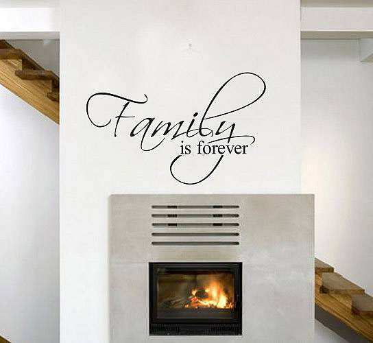 Family Forever Wall Decal Quotes