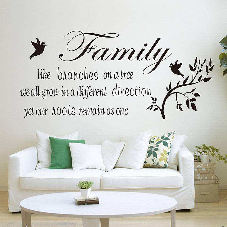 Motivational Inspirational Quotes: Family Like Branches On A Tree Quotes Wall Decal Sticker