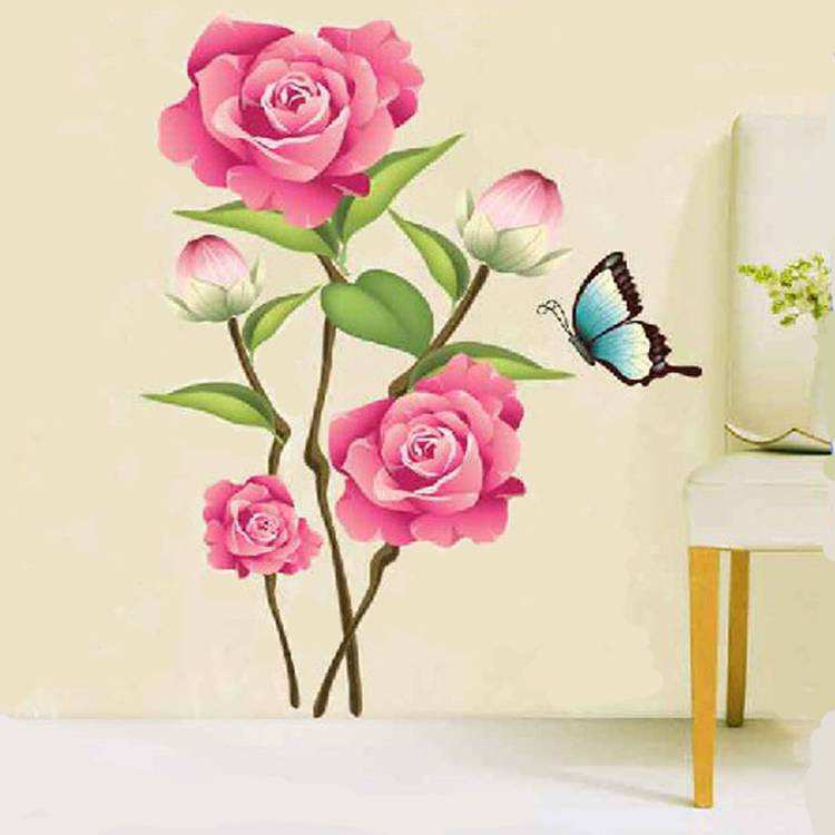 flower rose wall stickers art decal | flowers & tree | wall decals