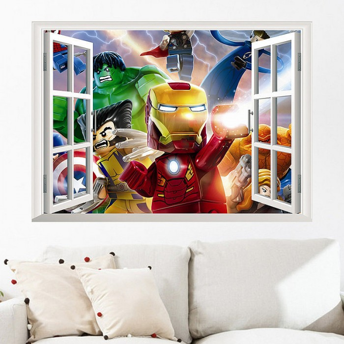 The Lego Movie 3D Wall Sticker Art Decal