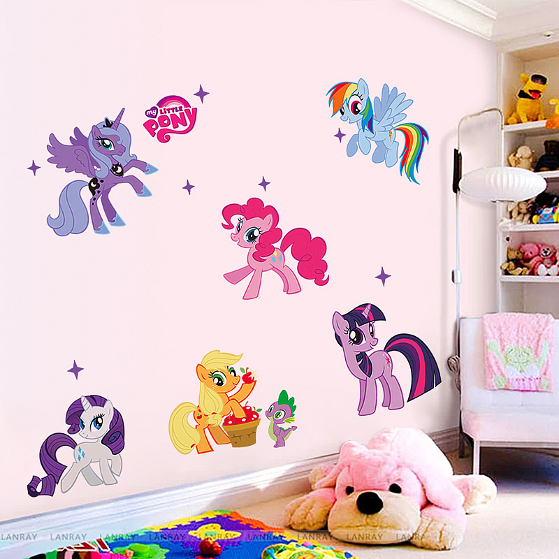 my little pony wall sticker art decal animals girls room wall