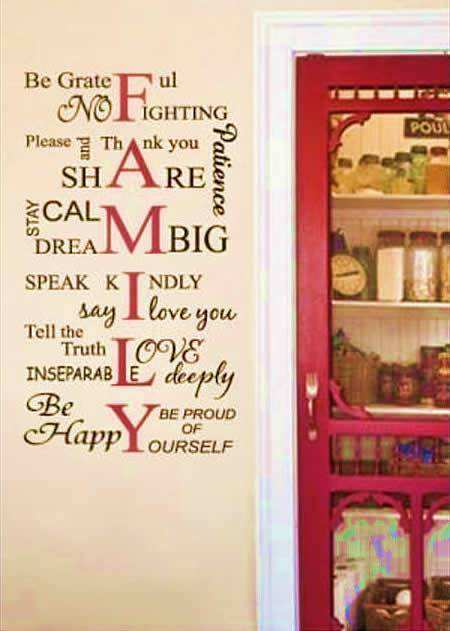 family rules quotes wall stickers | wall quotes | wall decals