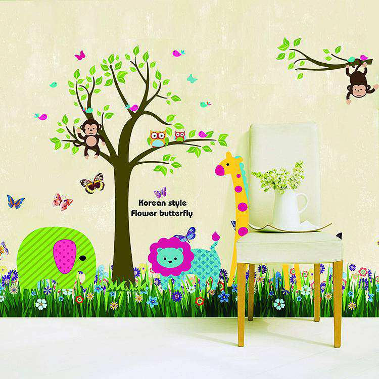 Animal Jungle Lion Monkey Wall Stickers Animals Wall Decals - Wall decals jungle