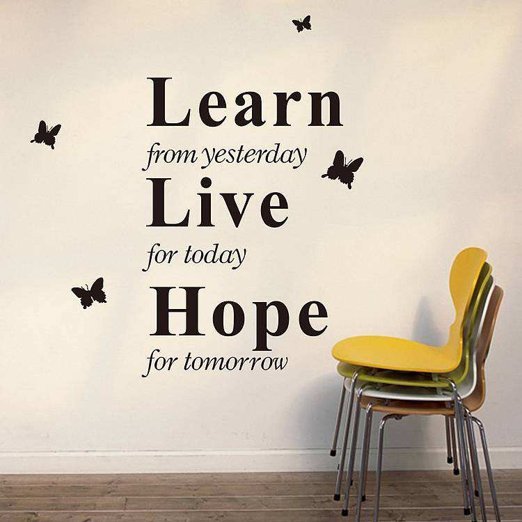 Learn Live Hope Wall Stickers Quotes Quotes Wall Decals