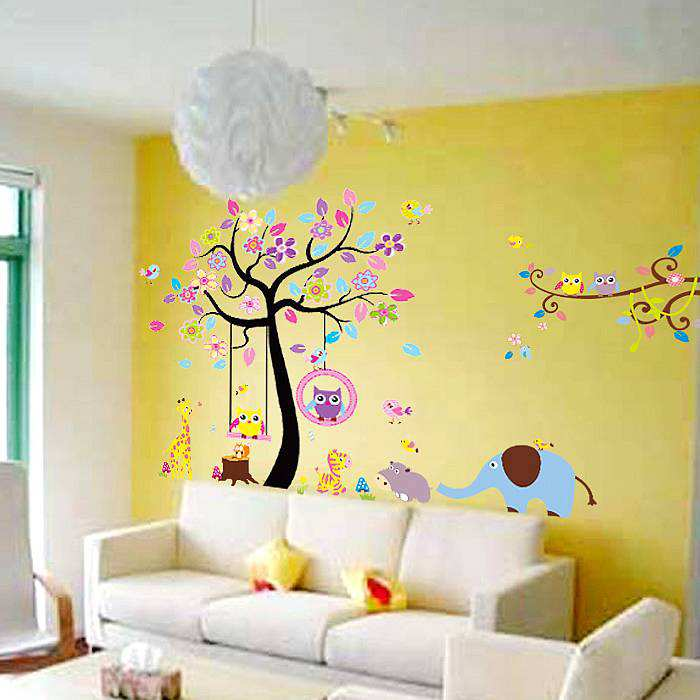 ... Owl Tree Wall Stickers Decals. ; 