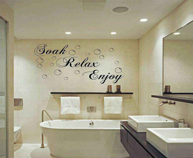 Soak Relax Enjoy Quotes Wall Stickers Quotes Wall Decals - Wall decals relax