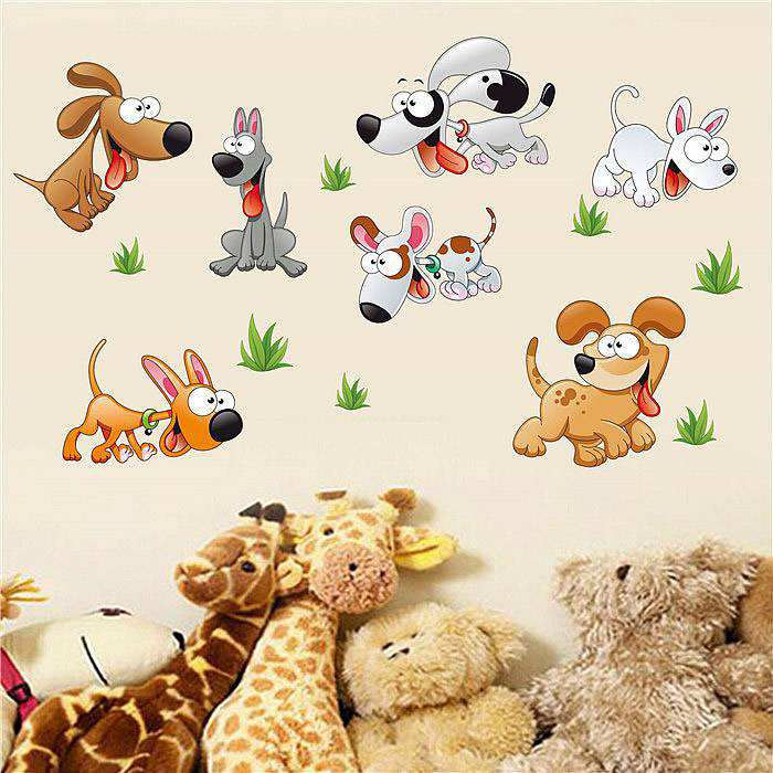 ... Dogs Wall Art Stickers. ; 