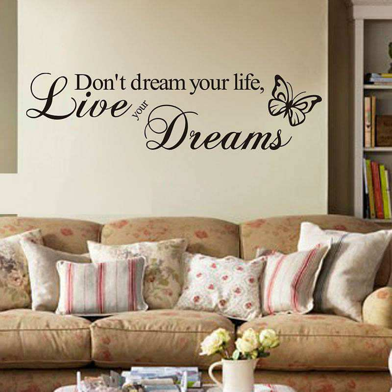 Life Quote Wall Stickers Amusing Dont Dream Your Life Quote Wall Stickers  Quoteshome  Wall Decals