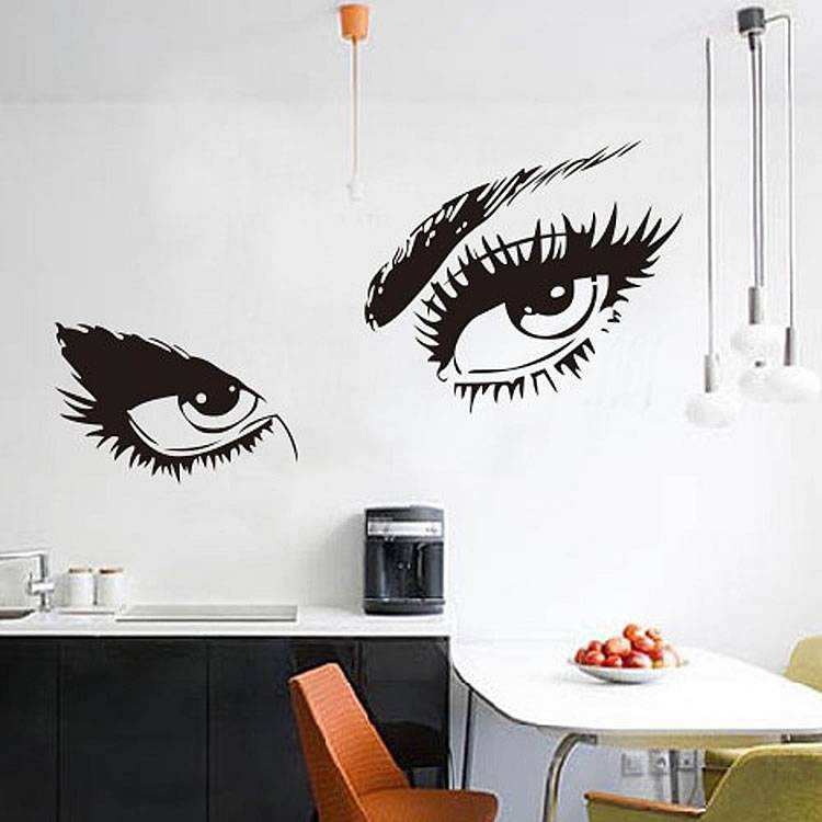 large women eyes wall stickers | bedroom | wall decals