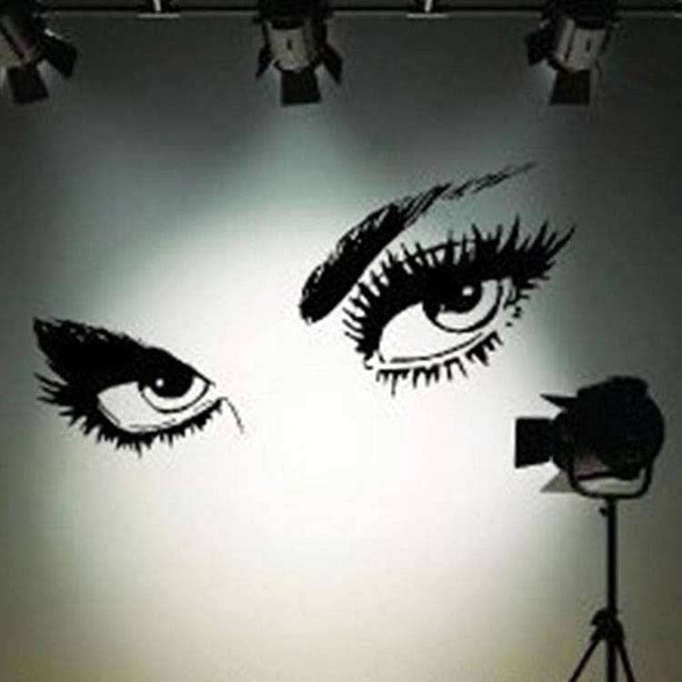 Large Women Eyes Wall Stickers Bedroom Wall Decals - Wall decals eyes