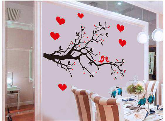 love birds tree branches wall sticker | bedroom | wall decals