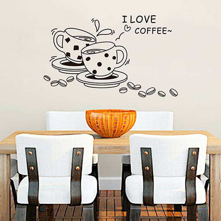 ... Coffee Wall Quote Decals Stickers. ; 
