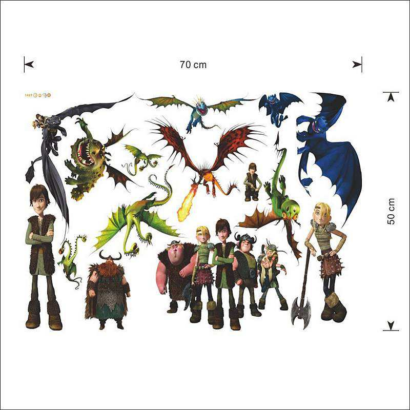 How To Train Your Dragon Wall Stickers Boys Room Wall Decals