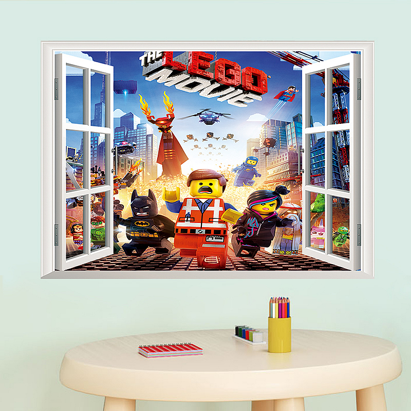 Delicieux New Lego Movie Wall Sticker Art Decals