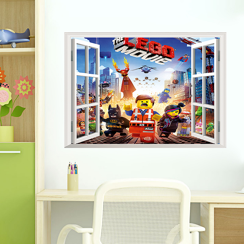New Lego Movie Wall Sticker Art Decals