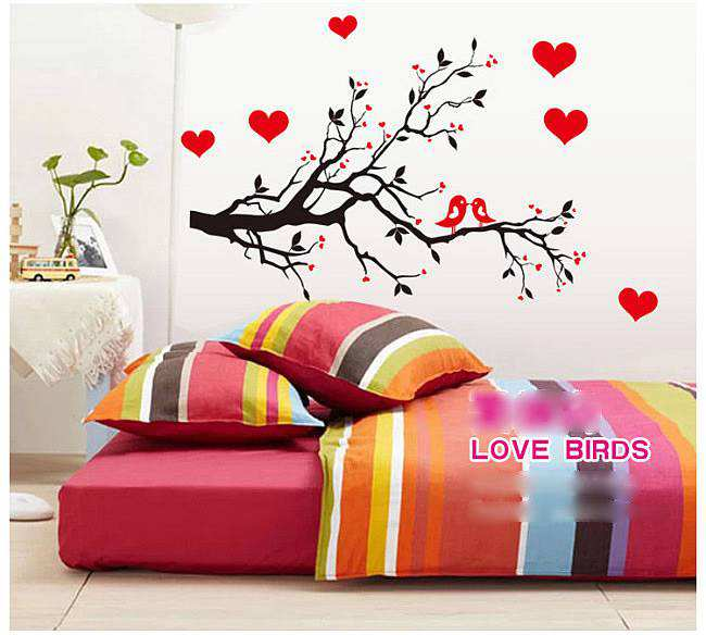Love Birds Tree Branches Wall Sticker Decals