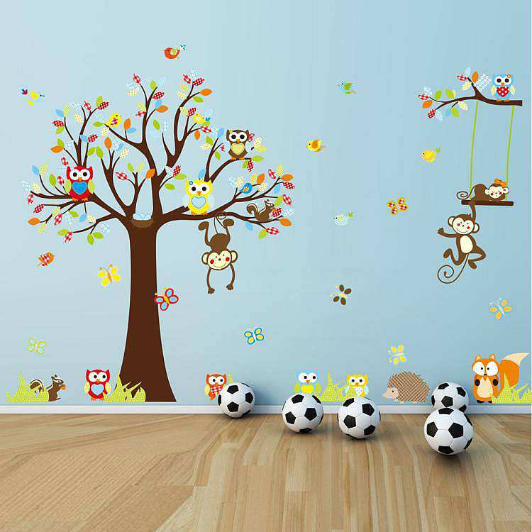 large monkey tree wall stickers | animals | wall decals