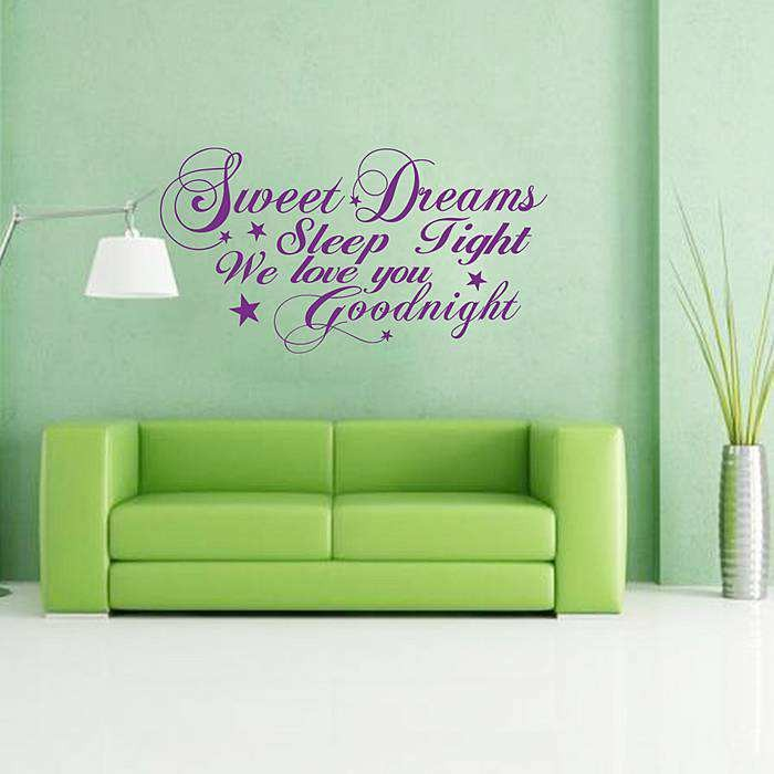 sweet dreams wall quote decals | quotes-home | wall stickers