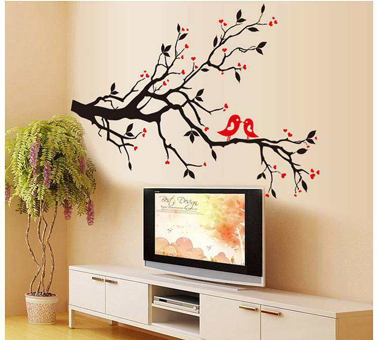 Tree Branch Wall Art wall art decals tree branches ~ color the walls of your house
