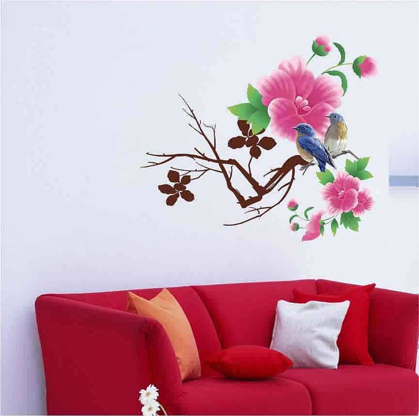 flowers wall stickers decals | lounge | bedroom | wall decals