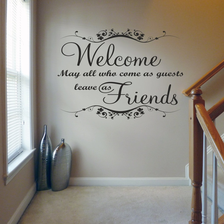 welcome may all who came as guest quote wall decals | wall stickers