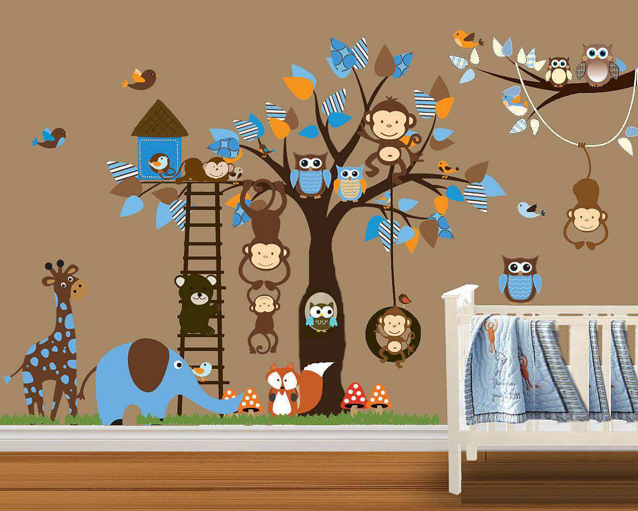 ... Monkey Tree Wall Stickers. ; 