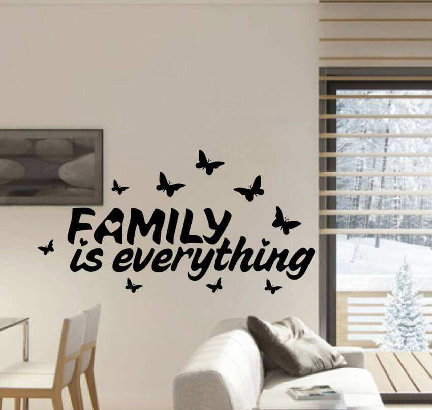 family is everything quotes wall decal quotes wall stickers