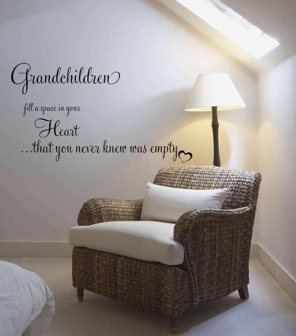 grandchildren fill a space in your heart quote wall decals wall heart quote wall decals