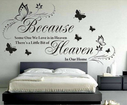 Because Some One Is Heaven Quotes Wall Decals