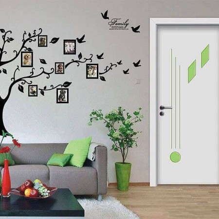 photo frame tree wall stickers | flowers & tree | wall decals