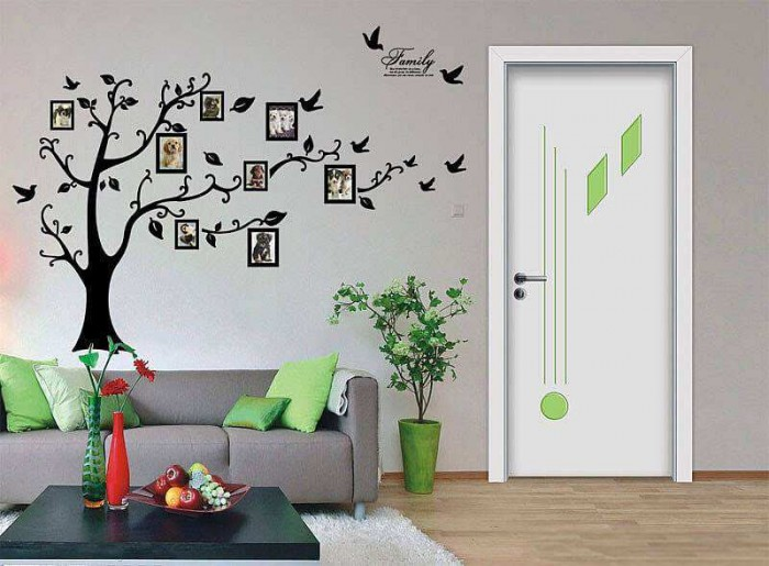Photo Frame Tree Wall Stickers Flowers Tree Wall Decals