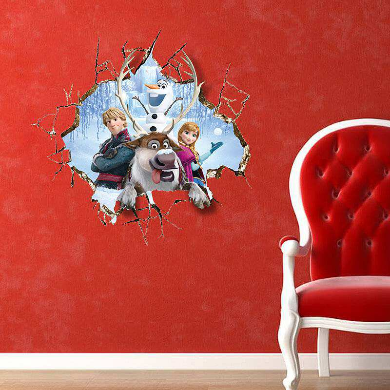 3d Frozen Wall Decal Girls Room 2 For 20 Wall Stickers