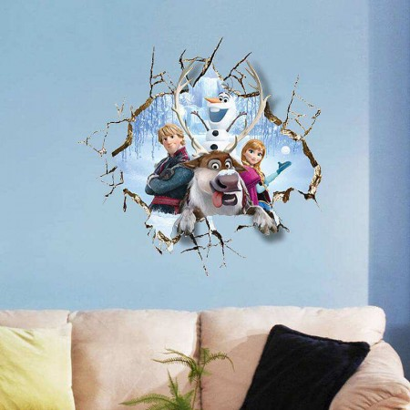 Frozen Wall Stickers For Girls Room Decor