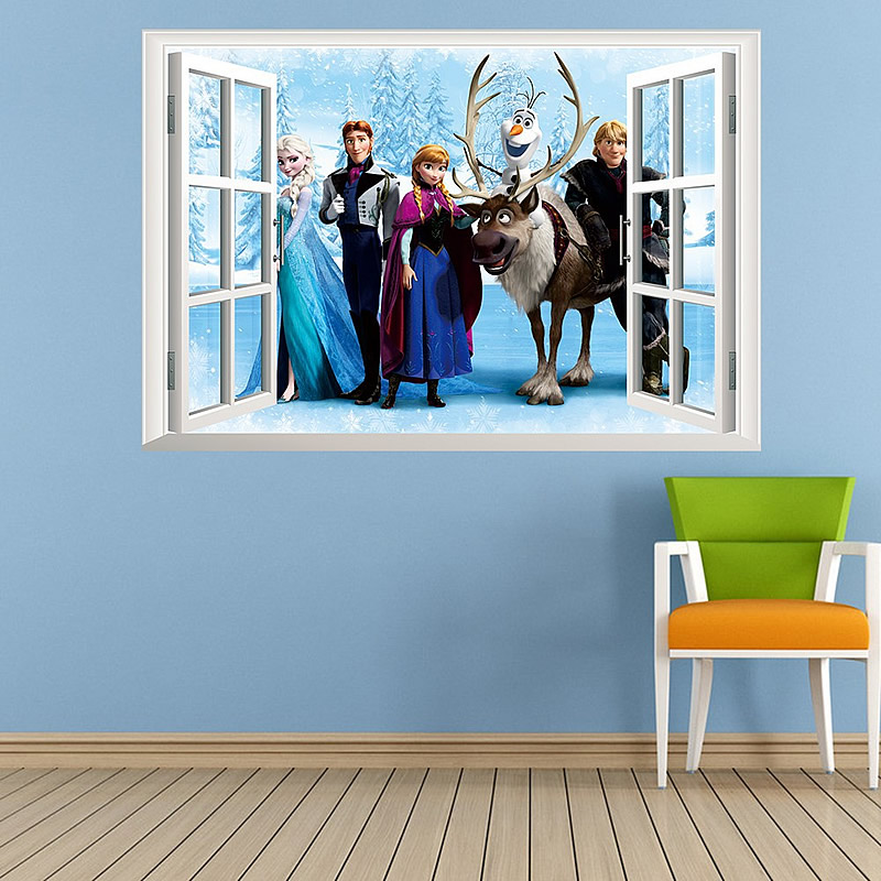 Charmant Frozen 3D Window Wall Stickers