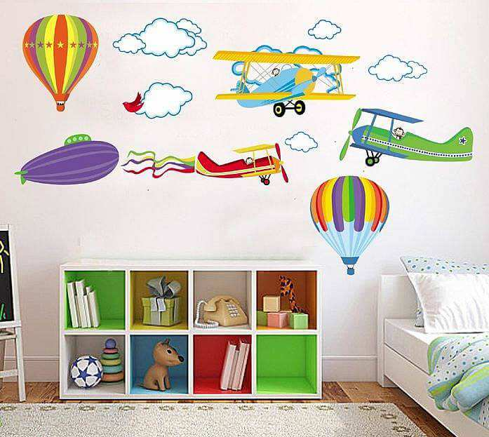 ... Planes U0026 Hot Air Balloons Wall Stickers. ; 
