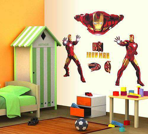 Home/Boys Room/Iron Man Wall Stickers. ;  Part 40