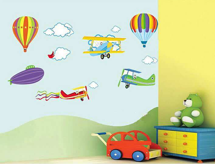 ... Hot Air Balloons Wall Stickers. ;  Part 97