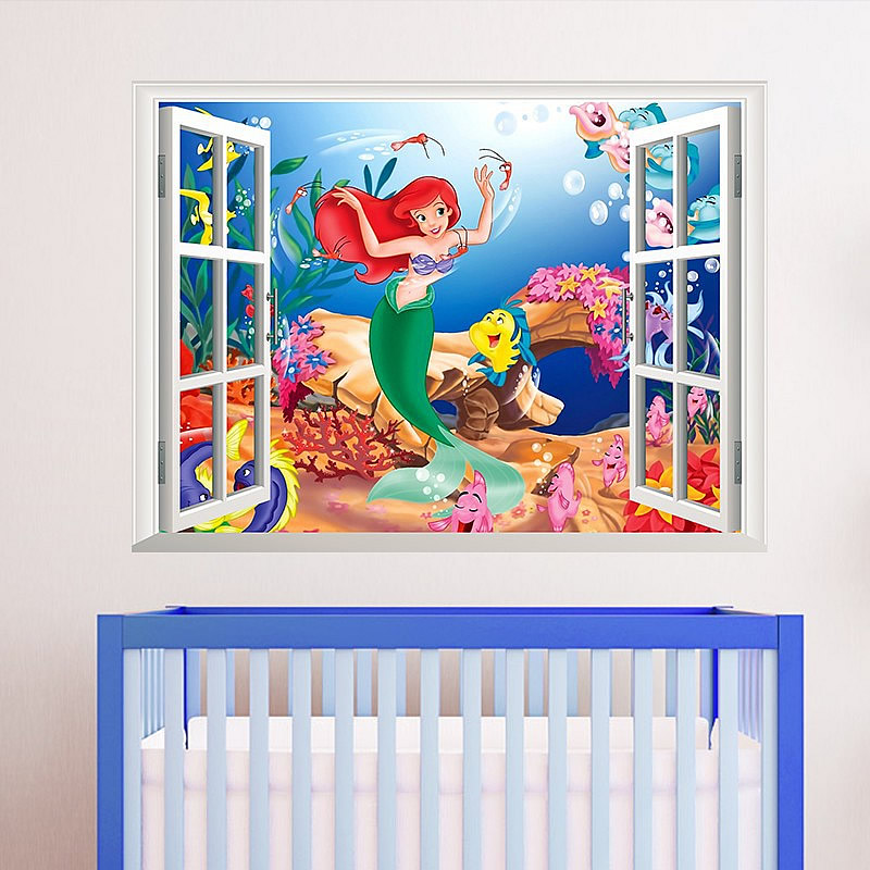 Amazing The Little Mermaid Princess Ariel Wall Sticker Part 3