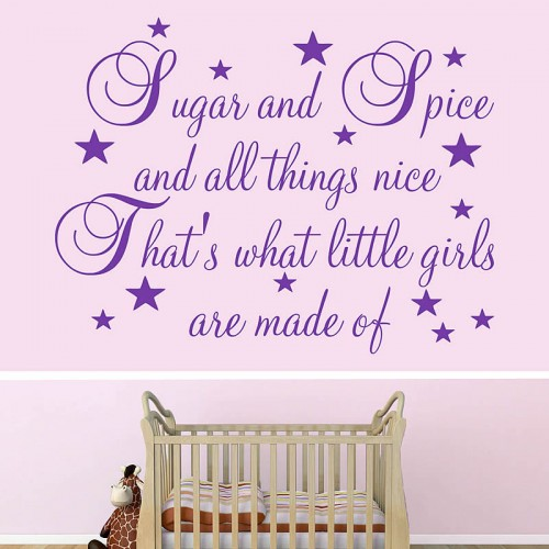 Sugar and spice all things nice quote wall decals