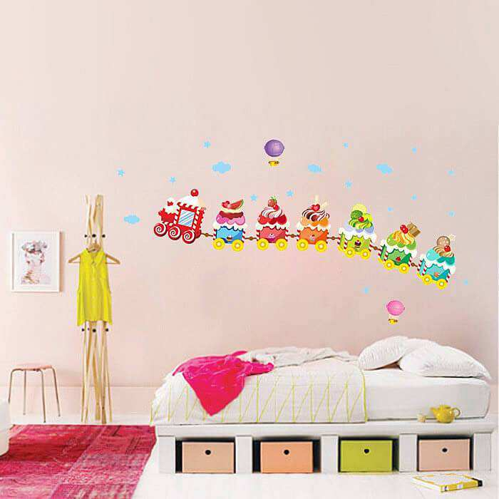 cute ice cream train wall stickers | new arrivals | wall decals