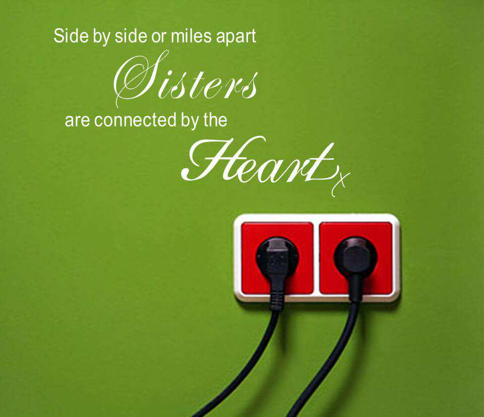 Side By Side Or Mile Apart Wall Quote Stickers Quotes Wall Decals