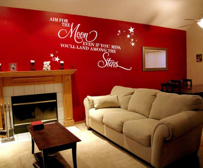 Aim For The Moon Quote Wall Stickers Quotes Wall Decals