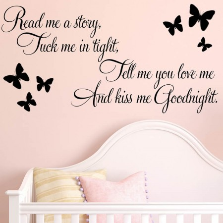 Read me story Tuck me in tight wall quote decals